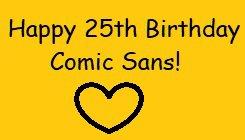 Comic sans birthday