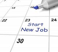 new job calendar date