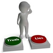 truth lies signpost small